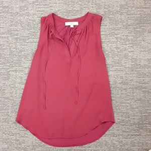 🐶Red tank top size xs by LOFT